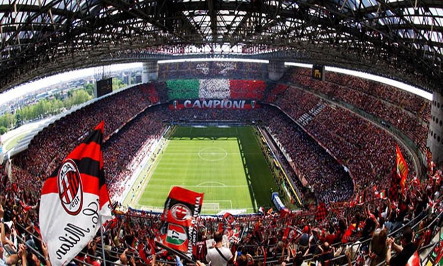 Картинки футбольного стадиона в милане